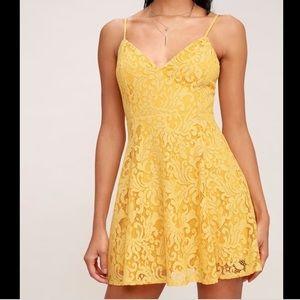 Lulus yellow skater dress